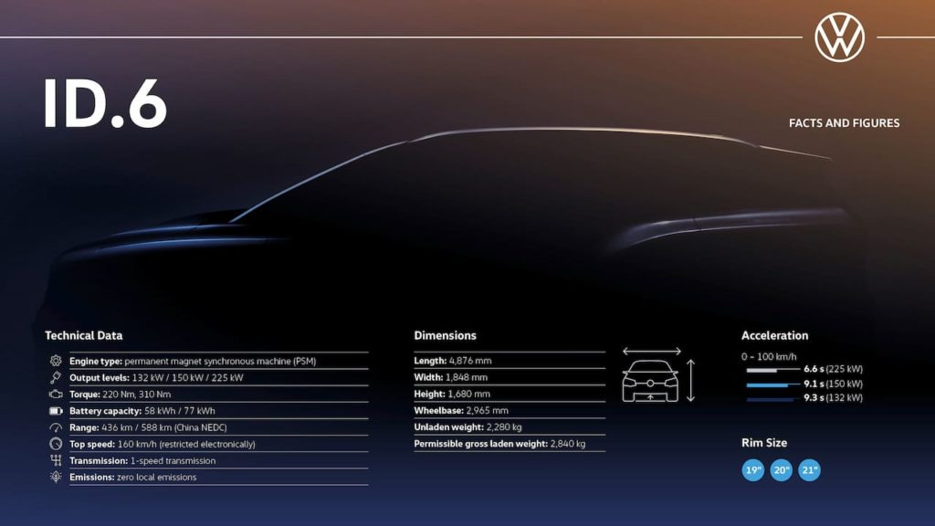 VW ID.6 specifications