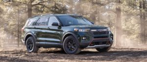 2021 Ford Explorer Timberline front three quarters