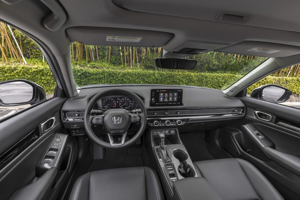 2022 Honda Civic Sedan interior dashboard