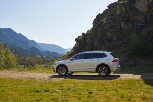USA spec 2022 VW Tiguan facelift side profile