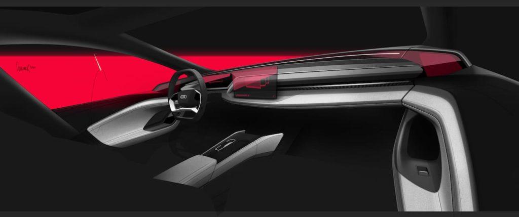 Audi electric car interior sketch