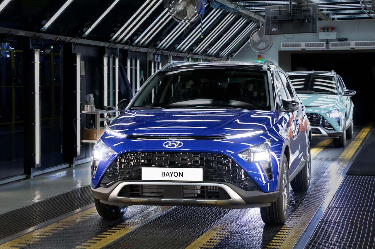 Hyundai Bayon production SOP Izmit Turkey