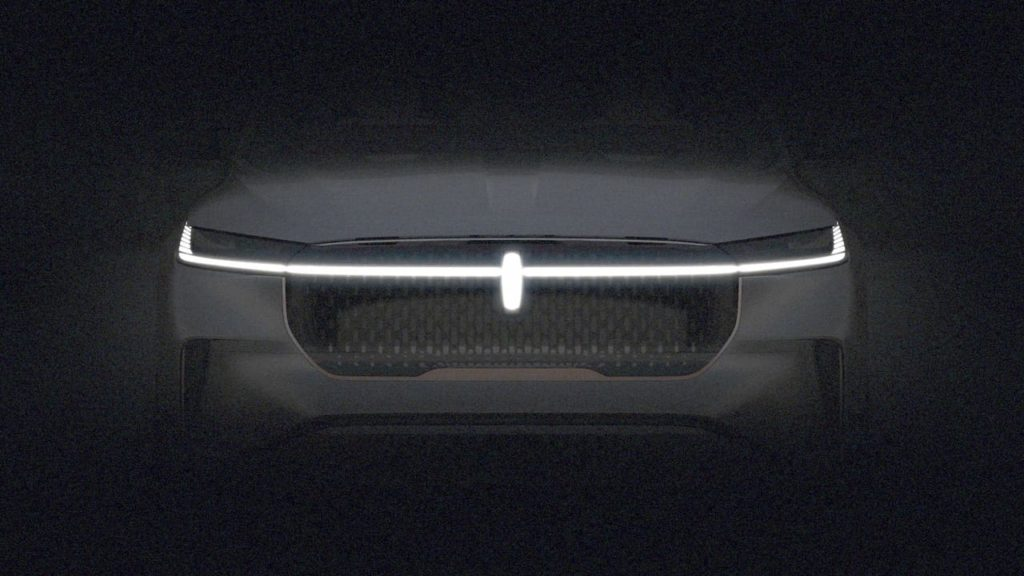 Lincoln electric car front teaser