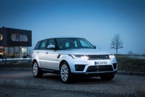 Range Rover Sport PHEV front three quarters