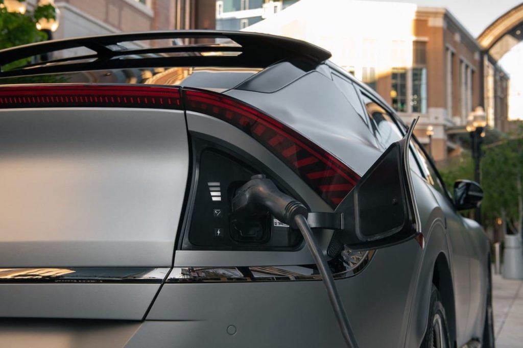 US-spec Kia EV6 charging port