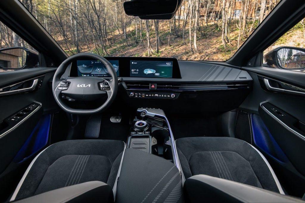 US-spec Kia EV6 interior dashboard