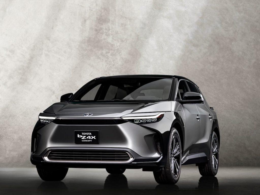 US-spec Toyota bZ4X concept front three quarters