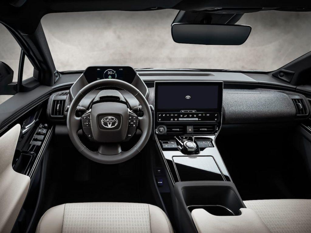 US-spec Toyota bZ4X interior dashboard
