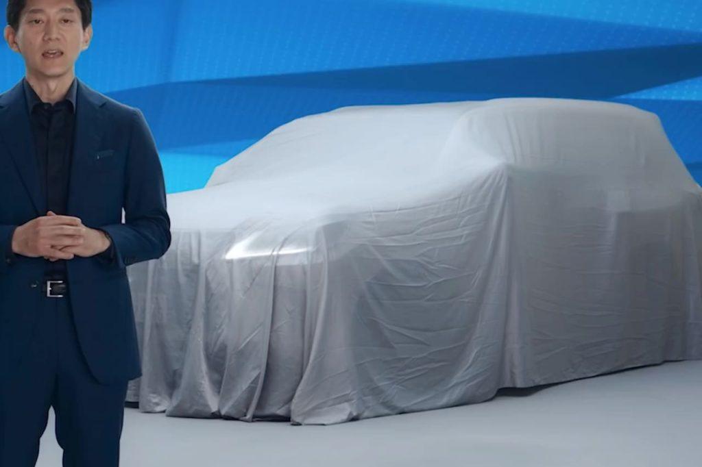 2022 Lexus LX front three quarters teaser