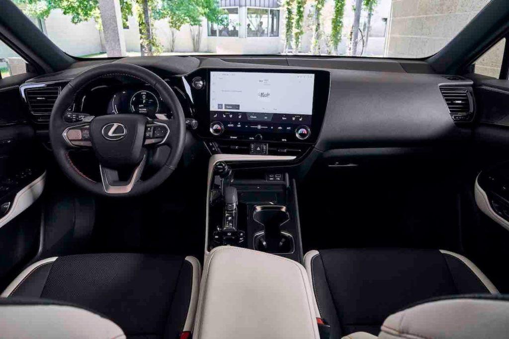2022 Lexus NX 350h hybrid interior dashboard
