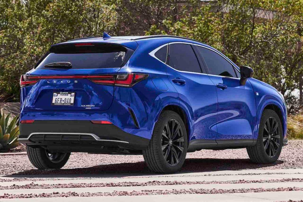 2022 Lexus NX 450h+ plug-in hybrid PHEV rear