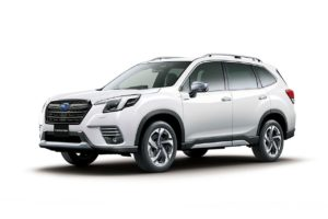 2022 Subaru Forester facelift front three quarters