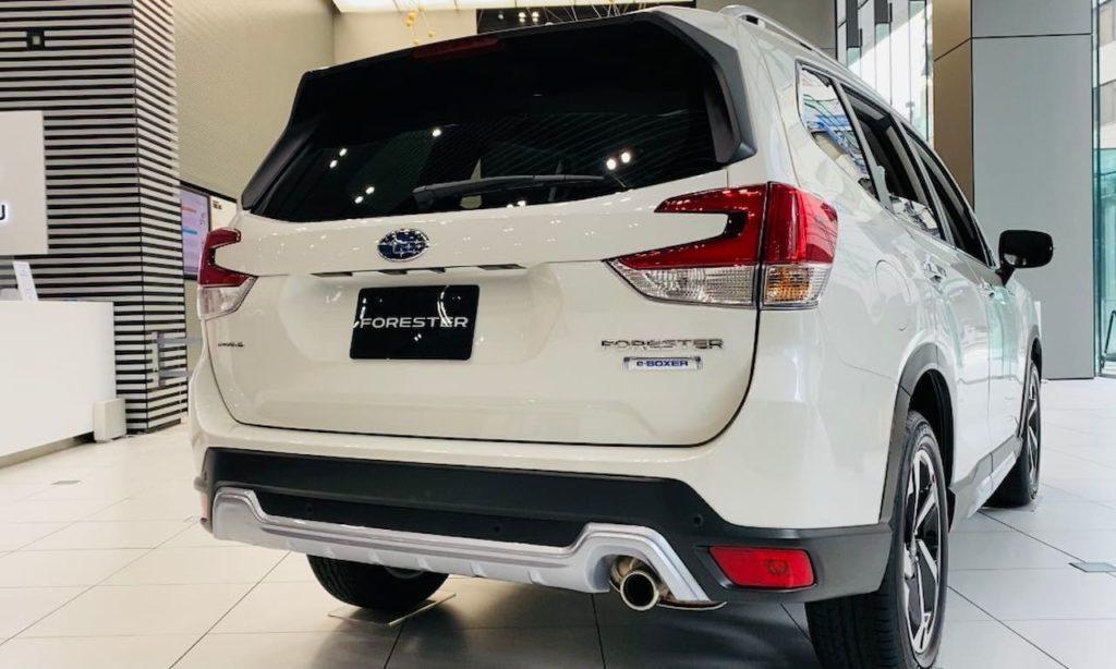 2022 Subaru Forester facelift rear three quarters live image