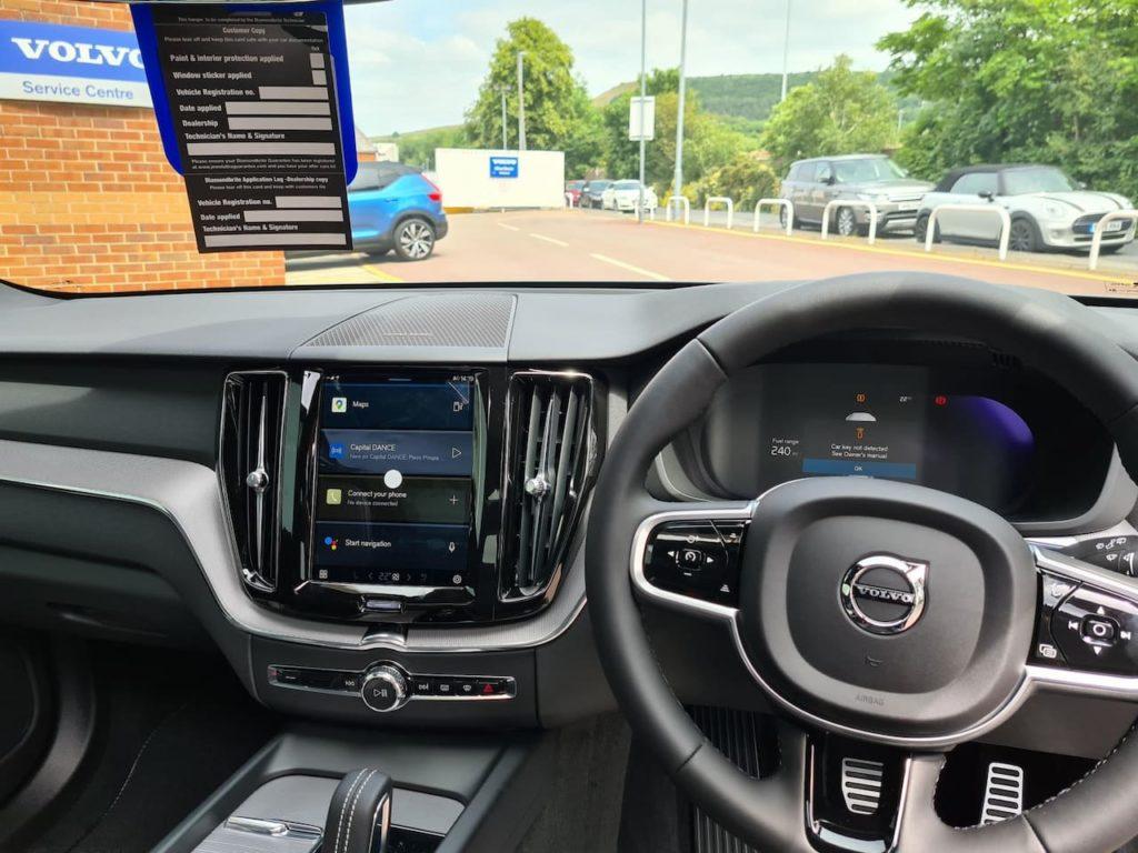 2022 Volvo XC60 (facelift) interior dashboard live image