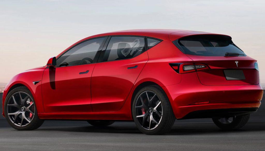 2023 Tesla Model 2 rear rendering