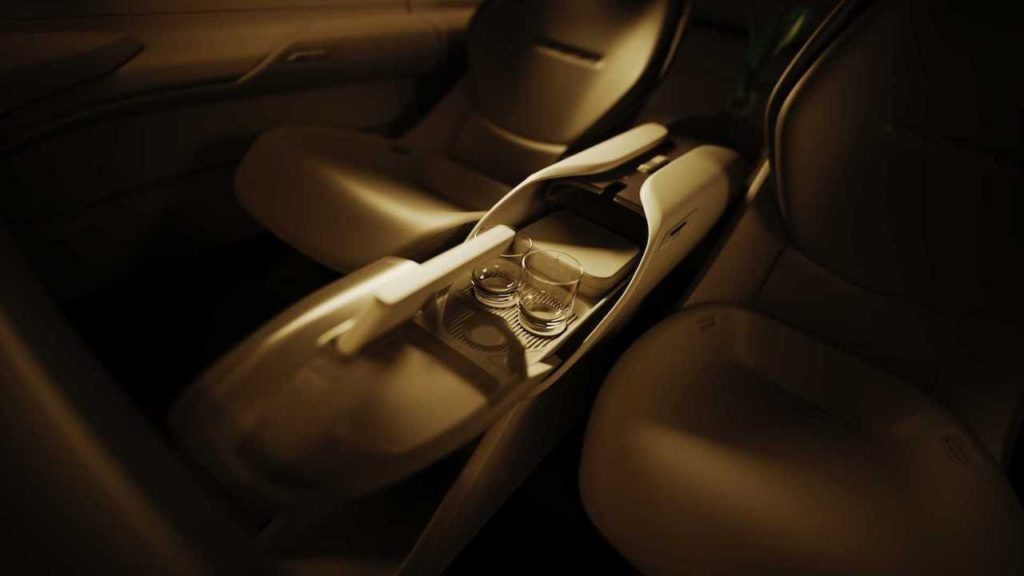 Audi Grand Sphere concept console teaser