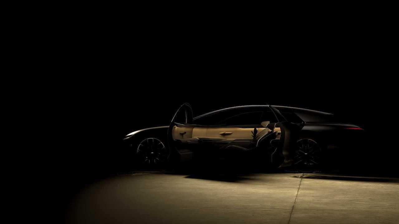 Audi Grand Sphere concept side profile teaser