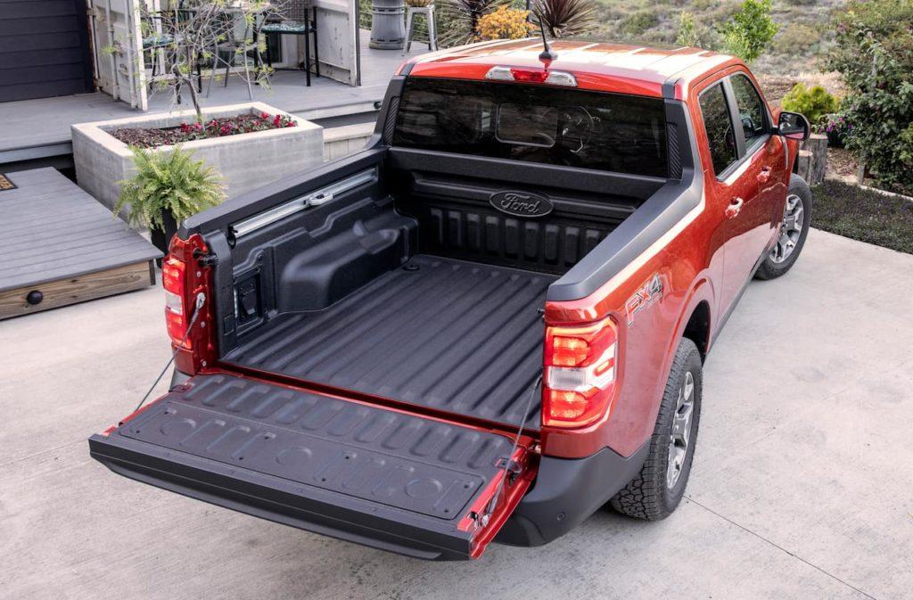 Ford Maverick truck bed