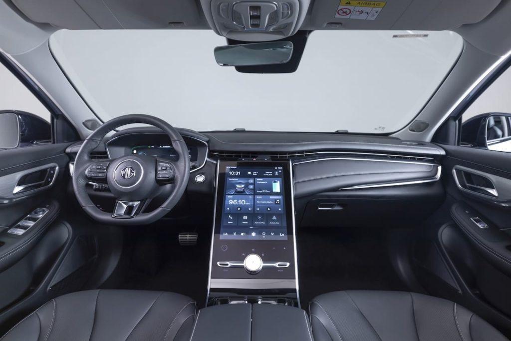 MG Marvel R interior dashboard live image