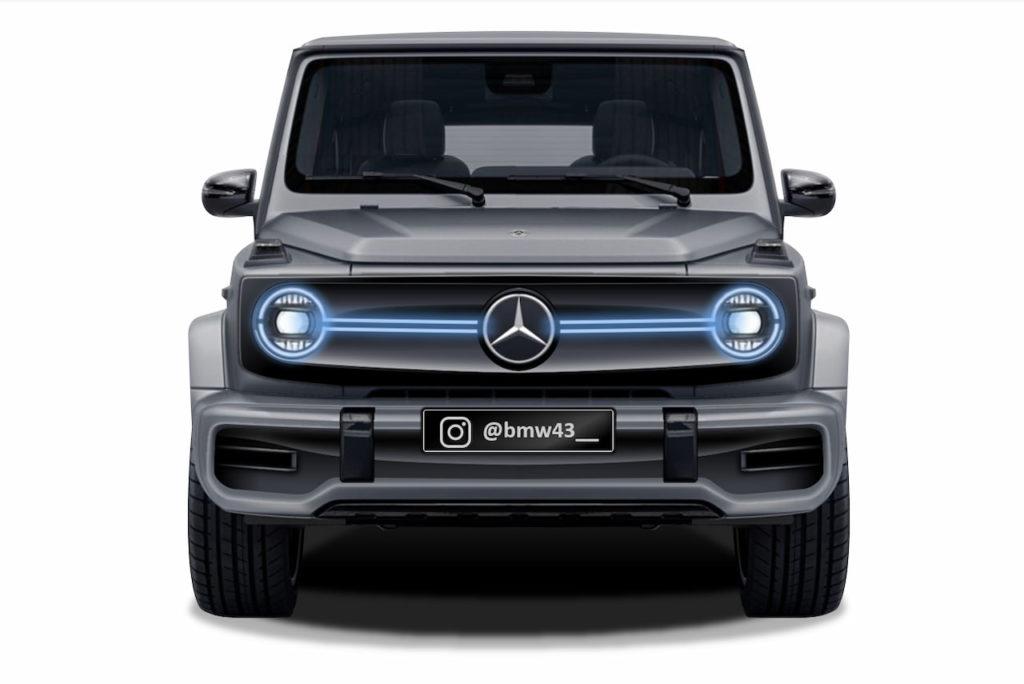 Mercedes EQG G Class electric EV rendering