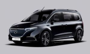 Mercedes EQT electric van render