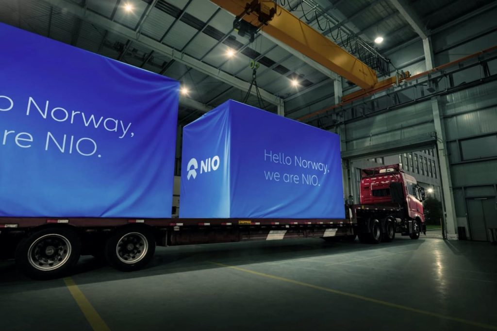 Nio Power Chargers Norway shipment