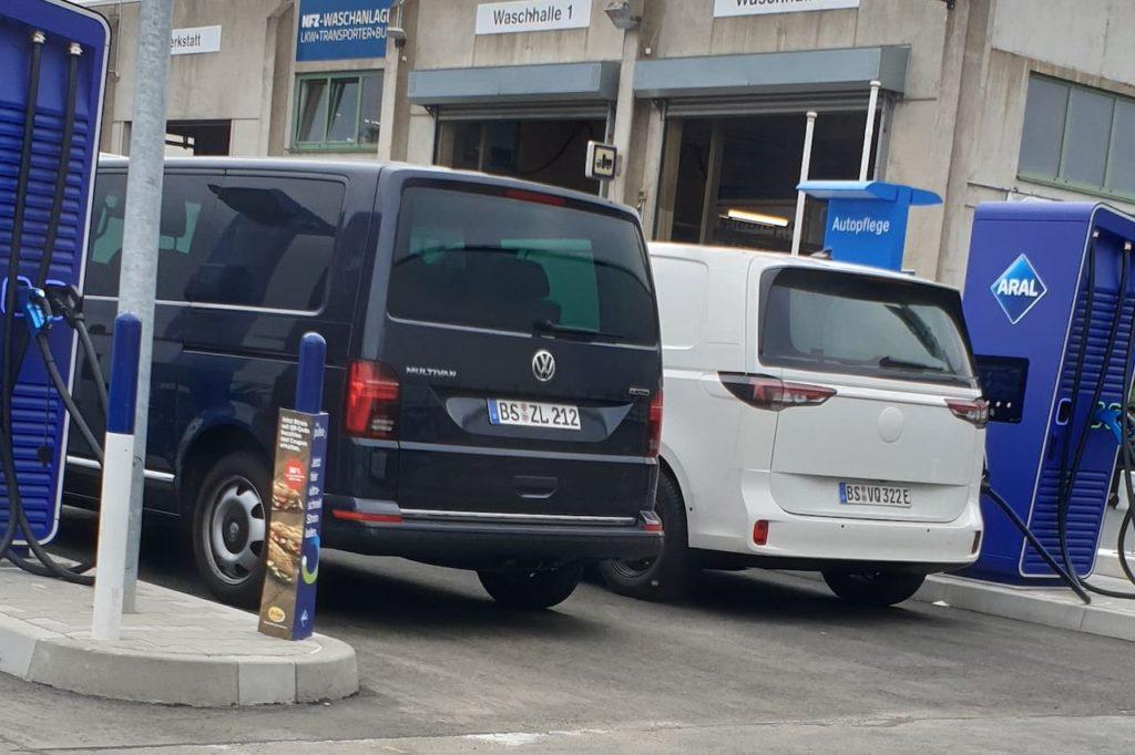 Production VW ID. Buzz Cargo rear spy shot