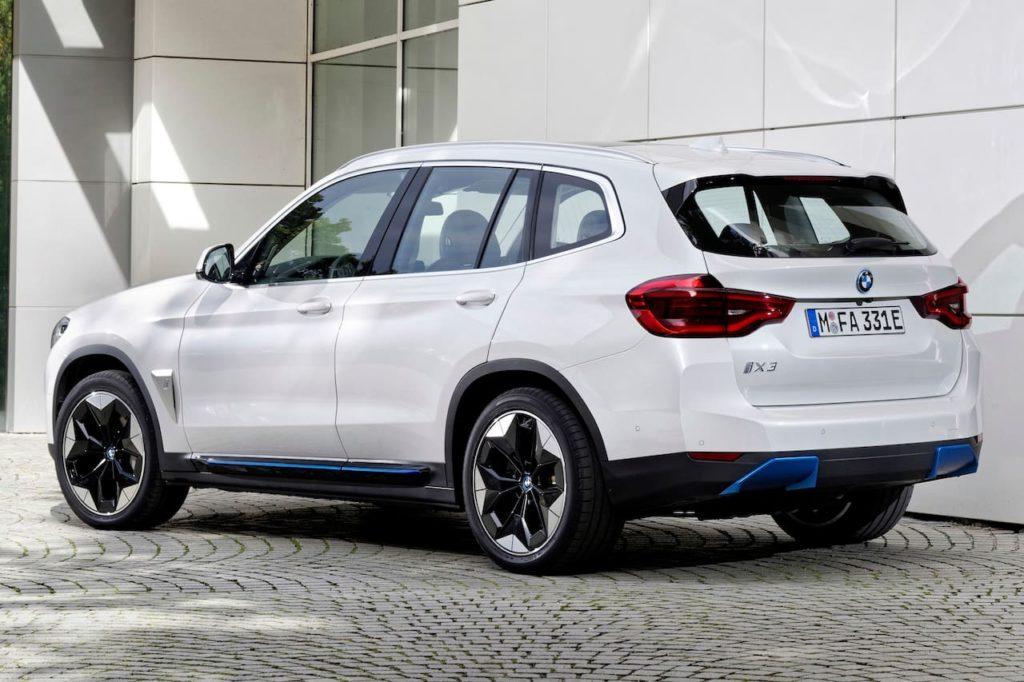 2021 BMW iX3 rear three quarters