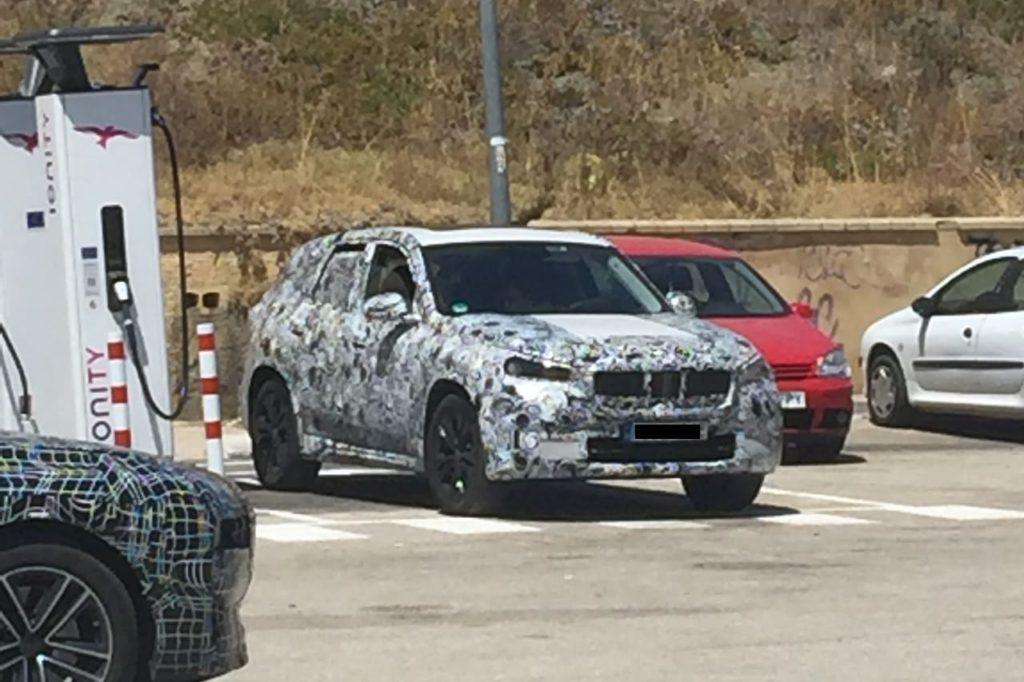 2022 BMW X1 front three quarters spy shot