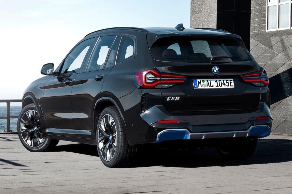 2022 BMW iX3 facelift rear three quarters