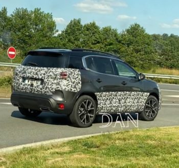 2022 Citroen C5 Aircross spied, to be available as a PHEV