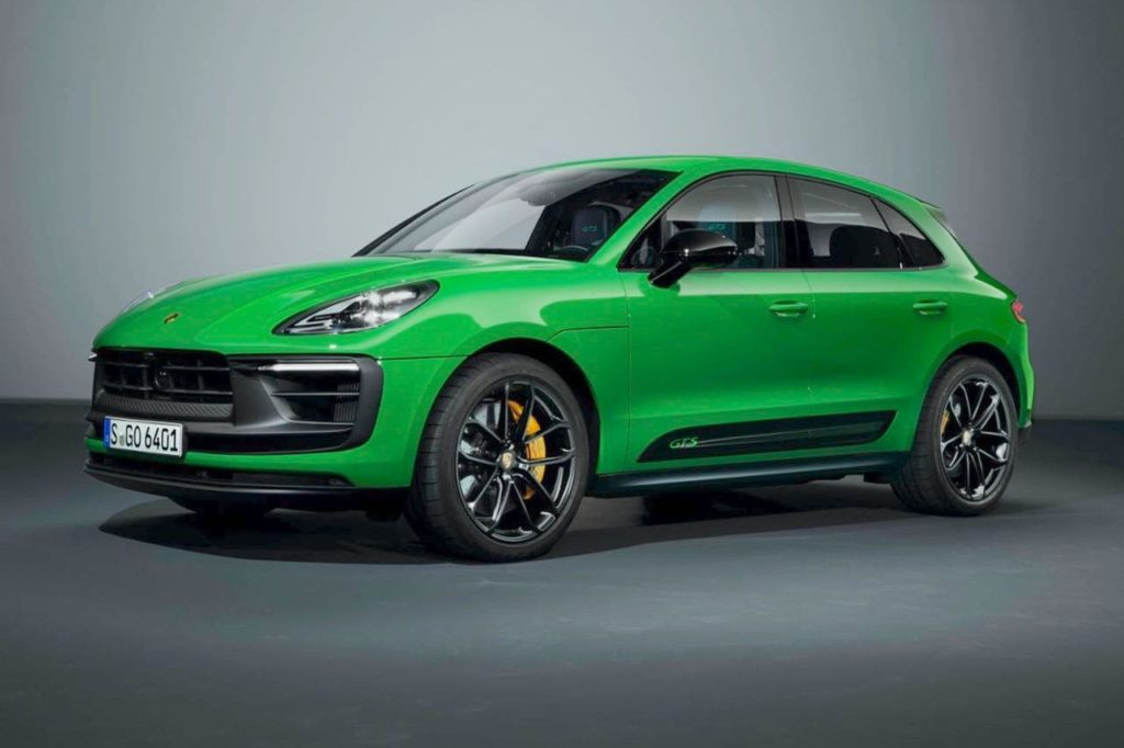 2022 Porsche Macan GTS with GTS Sport package front three quarters