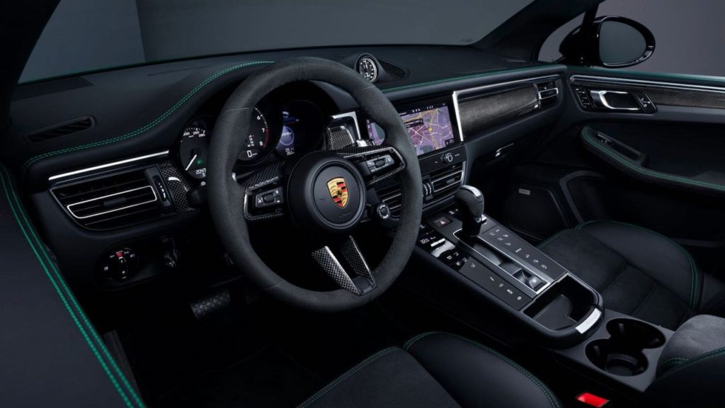 2022 Porsche Macan GTS with GTS Sport package interior dashboard