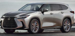 2023 Lexus TX front three quarters rendering