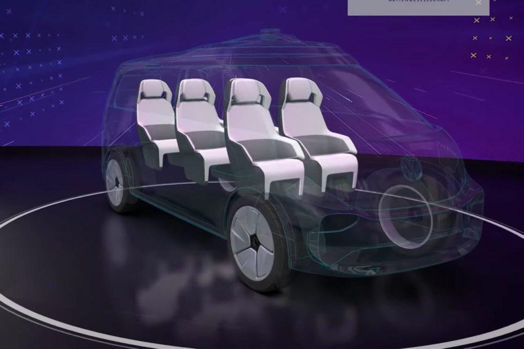 EU-spec VW ID. Buzz ride pooling version teaser