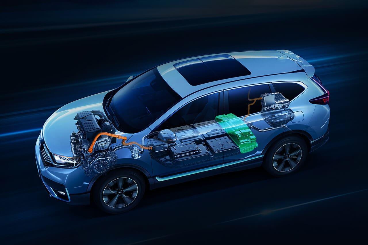 Honda CR-V PHEV drivetrain layout