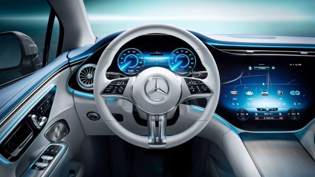 Mercedes EQE dashboard driver side interior