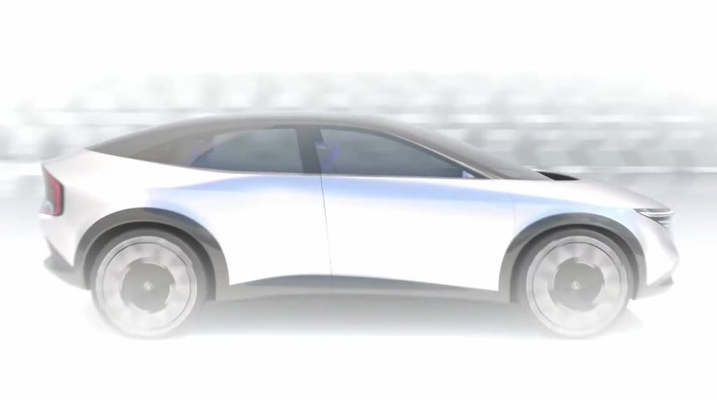 New Nissan electric SUV coupe dynamic teaser