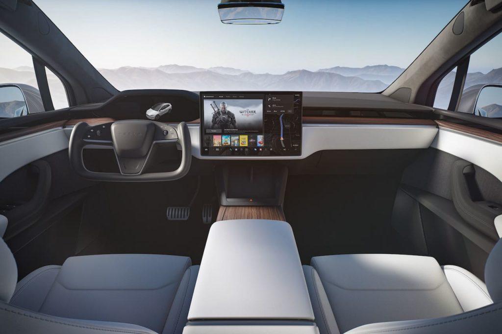 New Tesla Model X 2021 interior dashboard