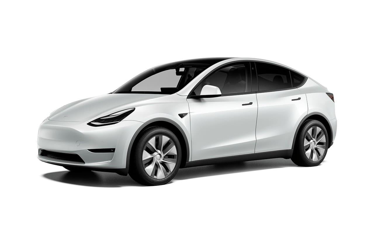New Tesla Model Y Standard Range front three quarters