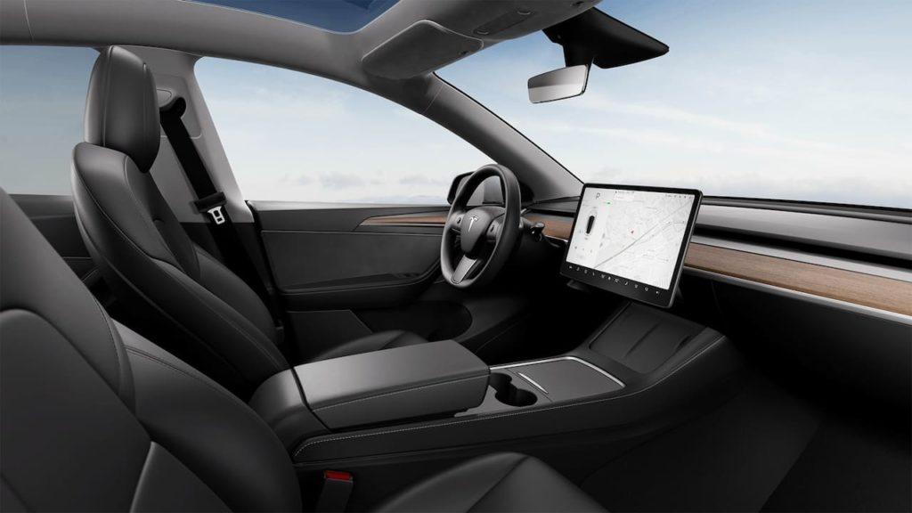 New Tesla Model Y Standard Range interior