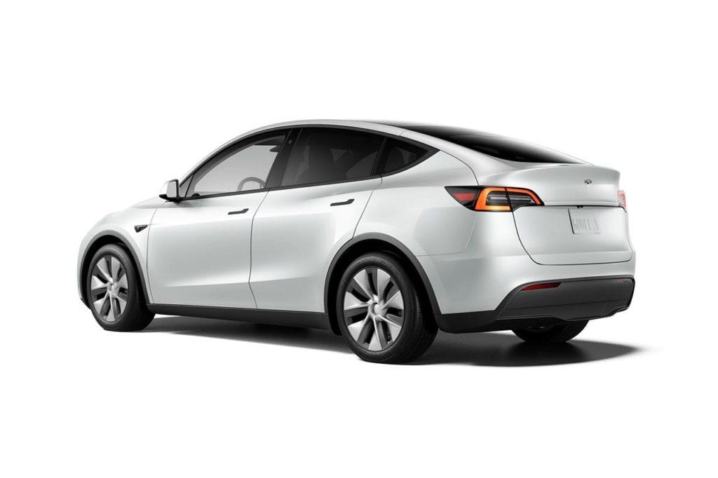 New Tesla Model Y Standard Range rear three quarters
