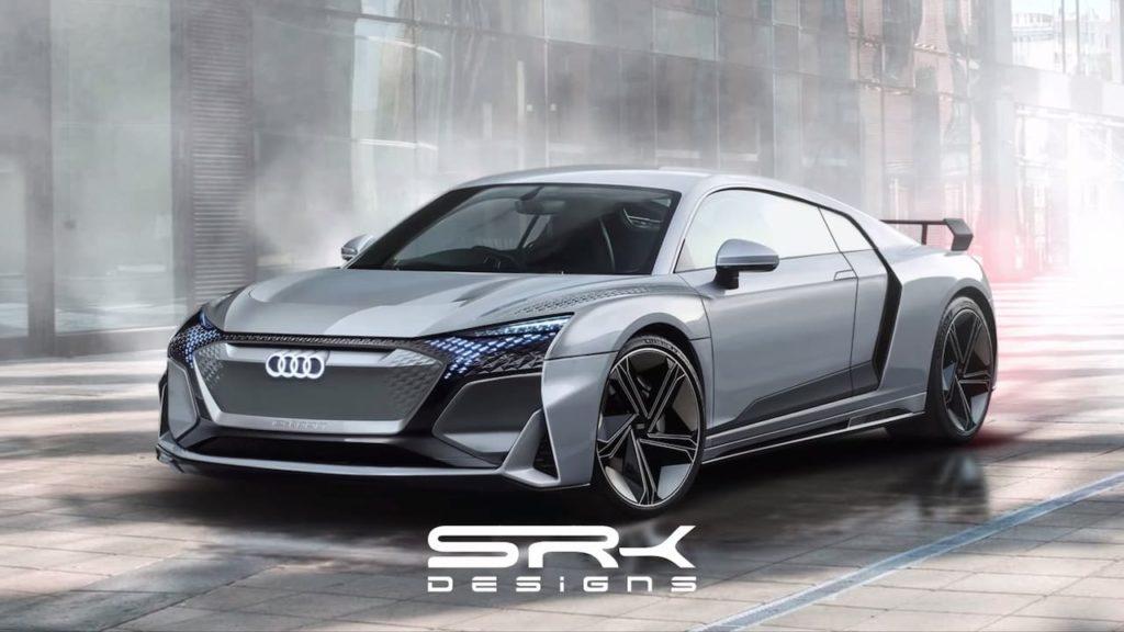 Next-gen Audi R8 e-tron rendering