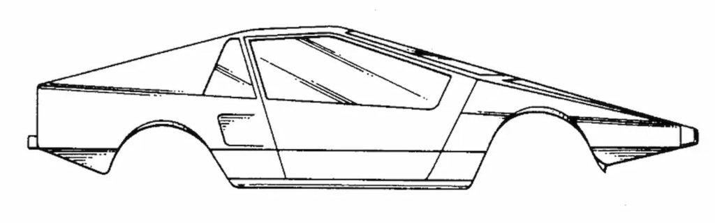 Tesla Cybertruck design patent application reference sports car 1