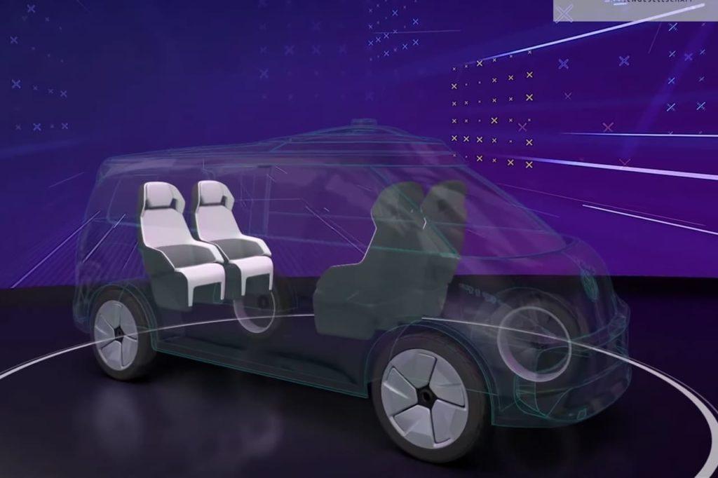 US-spec VW ID. Buzz ride-hailing version teaser
