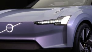 Volvo Recharge Concept headlamp live image