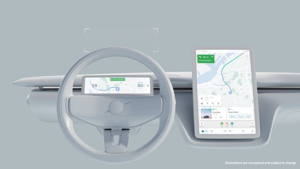 Volvo Recharge Concept instrument cluster infotainment cockpit