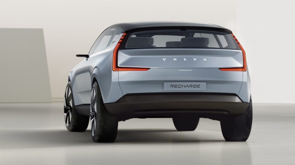 Volvo Recharge Concept rear three quarters