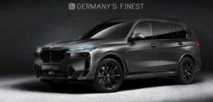 2022 BMW X7 facelift rendering