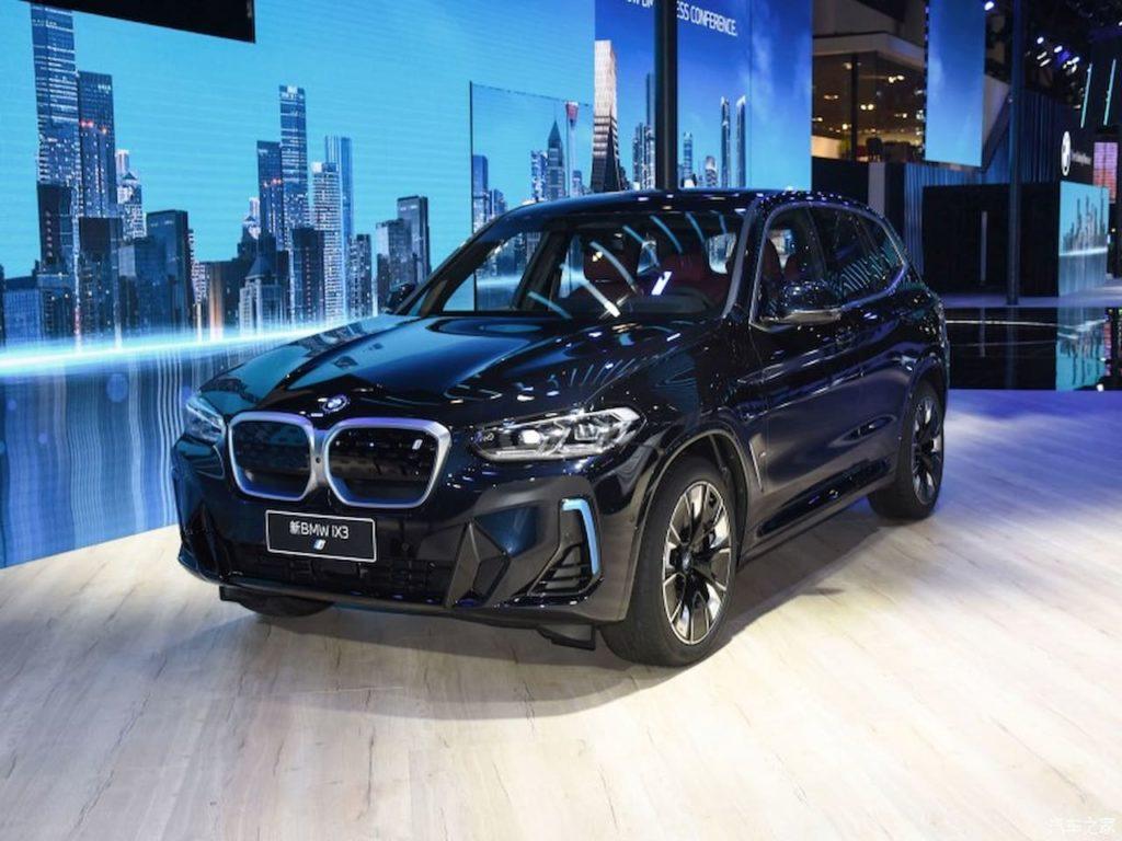 2022 BMW iX3 front three quarters world premiere